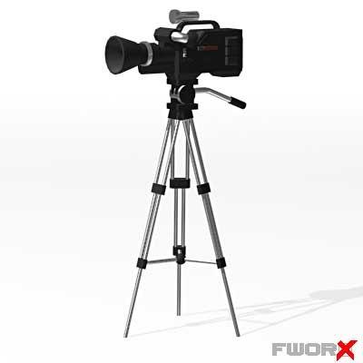 tv camera 3d model
