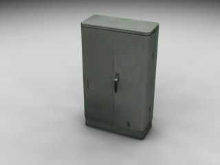 telephone junction box 3d 3ds