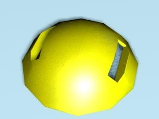3d model traffic bump reflectors
