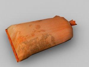 3d model sandbag construction andy