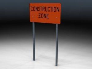 3d sign zones model