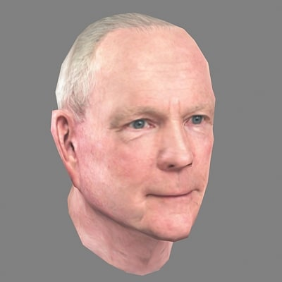 3ds max realtime man head