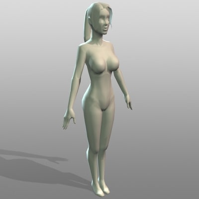 realistic female 3d model