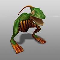 realtime mutant frog 3d model