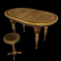 3d model fantasy table stool