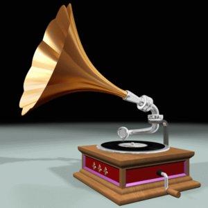gramophone phone 3d model