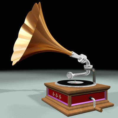 gramophone phone 3d model