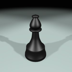 chess bishop 3d 3ds