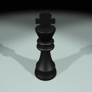 3d model chess king