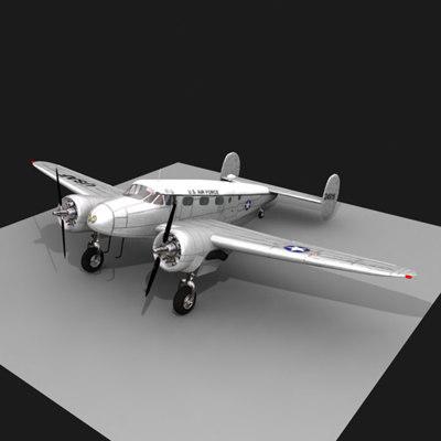 3d plane c-45h twin model