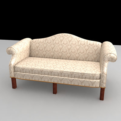 wing couch 3d model