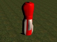 cinema4d red golf bag