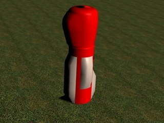 cinema4d red golf bag