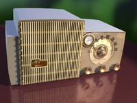 general electric musaphonic radio 3d model