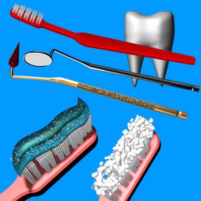dental instruments toothpaste 3d model