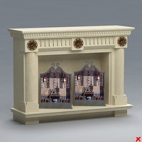 3d fireplace mantle