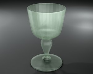 3d wine glass model