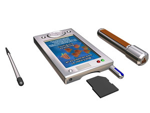 3d model pda prototype stylus