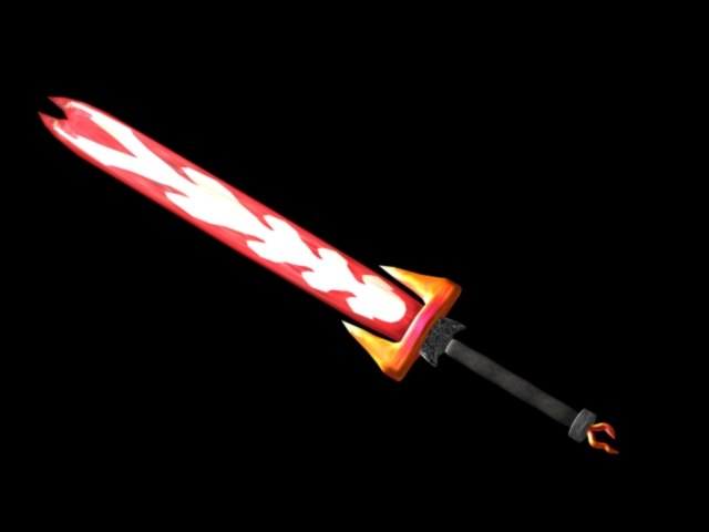 3d elemental sword flames
