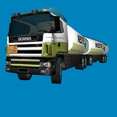 scania 144g tanker truck 3d model
