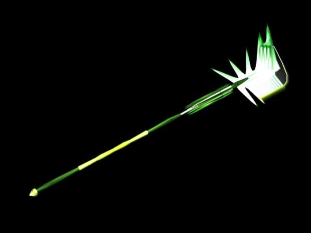 weapons wind halbert lance 3d model