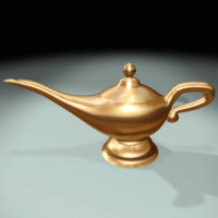 aladdin magic lamp 3d model