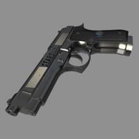 beretta m92f 3d model