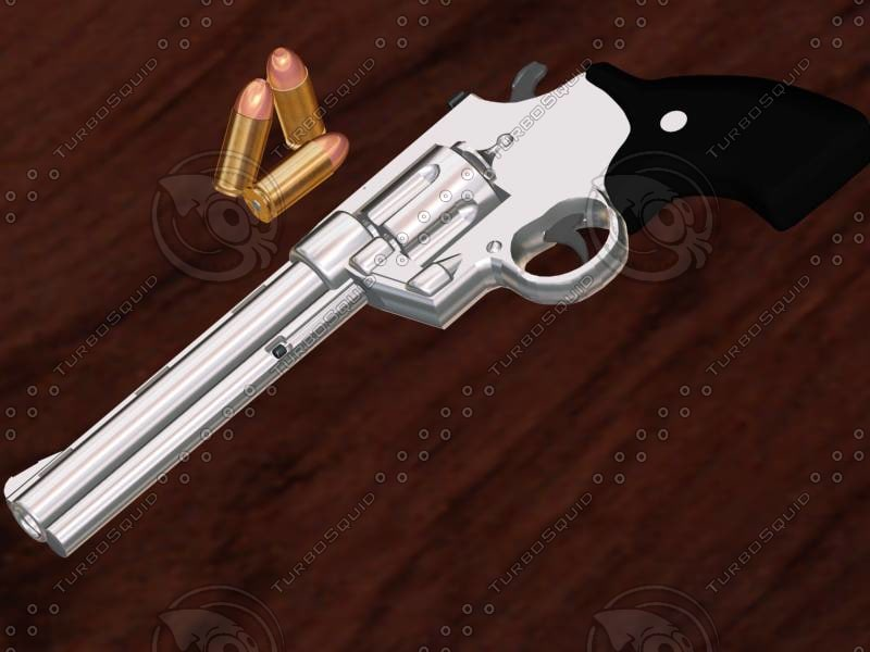 colt anaconda revolver 3d model