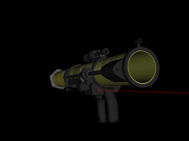 anti-tank gun smaw 3d model