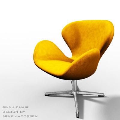 designer chair 3d model