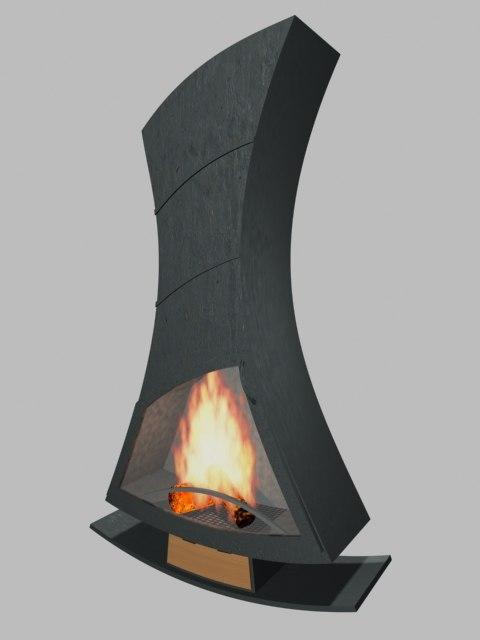fireplace 3d max