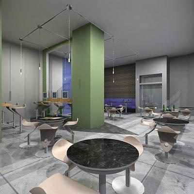 restaurant cafe 3d model