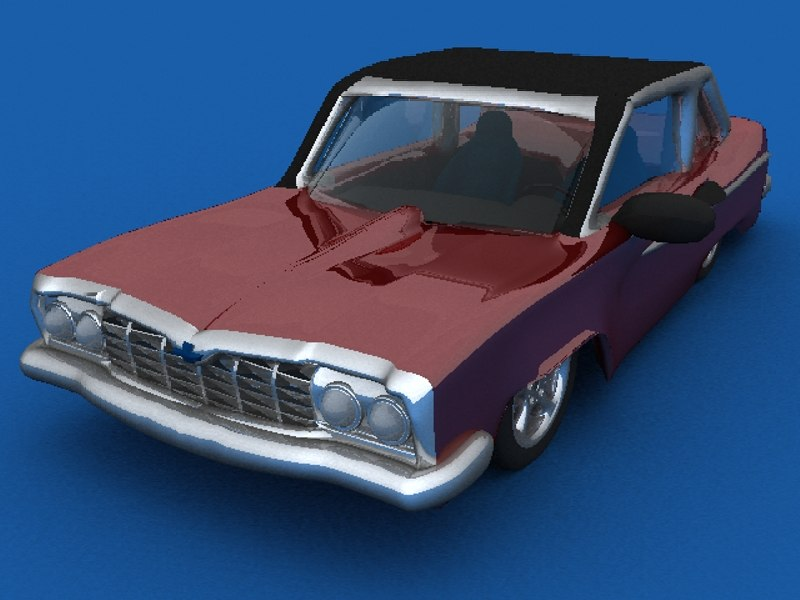 old cars jalopy 3d model