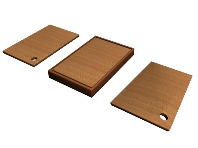 3d model chopping wood boards