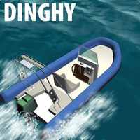 3d model rubber dinghy