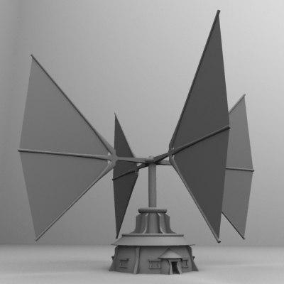 japanese windplant 3d model