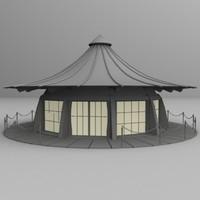 3d model japanese teahouse