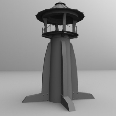 japanese lighthouse 3d model