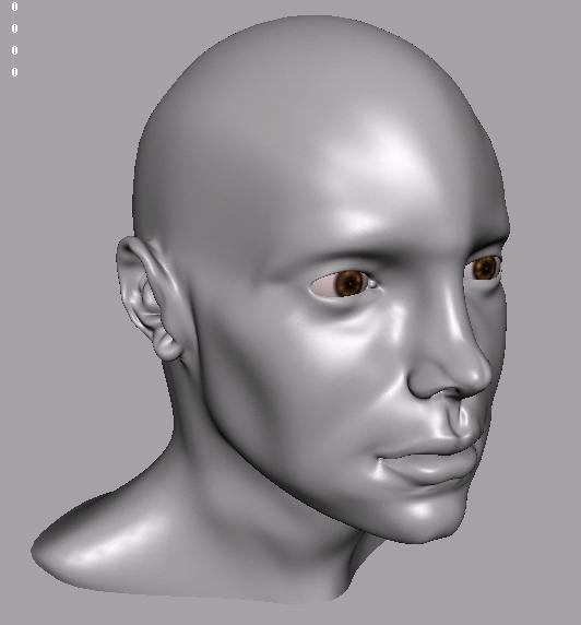 3d model white male