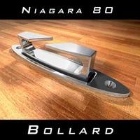 3d model bollard niagara 80