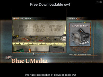 3d industrial objects tool model