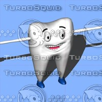 3d dental tooth character