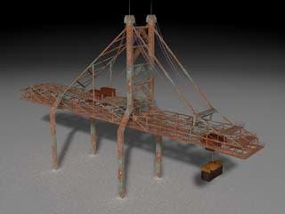 port quaycrane 3d model