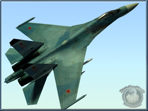 lightwave russian su27b fighter