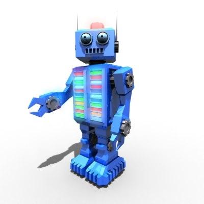 oldschool toy robot 3d max