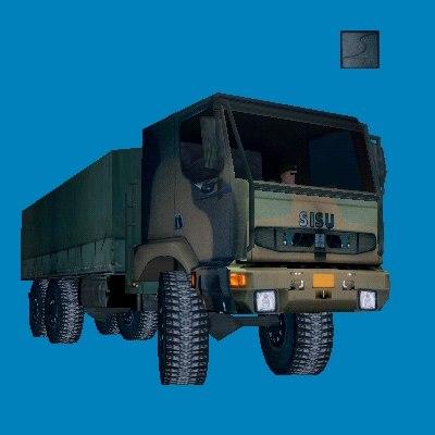 3ds sisu military truck