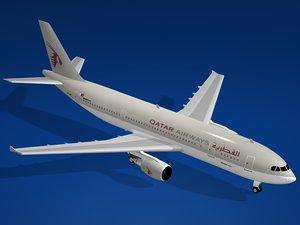 airbus a300-600 qatar airways 3ds