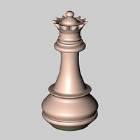 pieces chess 3d model