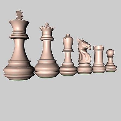 pieces chessmen 3d c4d