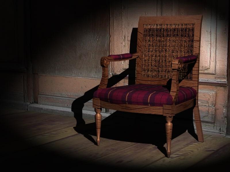 3d fruniture chair